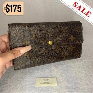 ❤️🔥SALE❤️🔥 Louis Vuitton Monogram Vintage Sarah Wallet Authentic Brown GUC